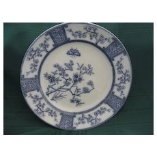 "English Flow Blue ""Furnivals"" Plate"