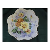 Vintage Porcelain Bowl Hand Painted