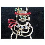 Vintage Snowman Holiday Christmas  Pin