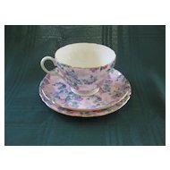 English Shelley Chintz Plate, Cup, and Saucer