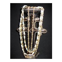 Vintage Five Strand Trifari Necklace