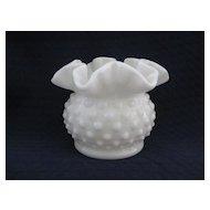 Small  White Hobnail Vase