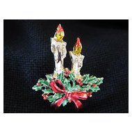 Christmas Pin with Candles