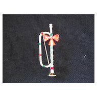 Christmas Pin Trumpet Horn