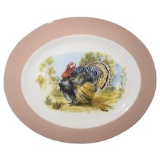 "Vintage Turkey Platter 13 1/2"" x 11 1/4"""