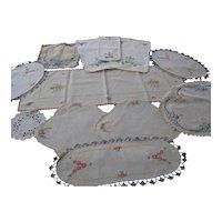 Vintage Embroidered Dresser Scarfs
