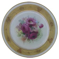 "Fabulous Haviland Pickard Limoges Porcelain 10"" Plate ~ Hand Painted with Artist Signature"