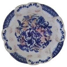 Antique Flow Blue Plate 1800's