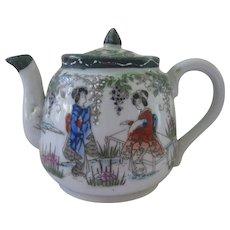 Vintage Geisha Ware Small Ceramic Tea pot with Green Trim