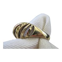 14 Karat Gold Dome Style Ring