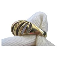 14 Karat Gold Dome Style Ring