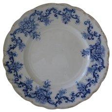 """Flow Blue 10"""" Plate - Registry Number for 1897"""