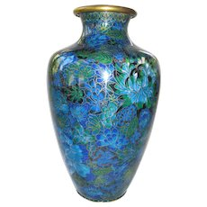 Pottery, Porcelain & Glass Art Glass Lovely Antique Original Bagley Art Deco Green Glass Posy Vase With Grill & Metal Frame
