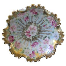 """Early 1900's Hand Painted Japan Nippon Bowl 8 1/2"""""""