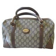 Vintage Gucci Plus Boston Style Logo Handbag/Purse