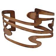 Vintage Renoir Copper Swirl Cuff Bracelet