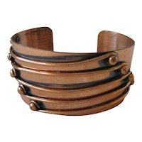 Vintage Modernist Copper Cuff Bracelet