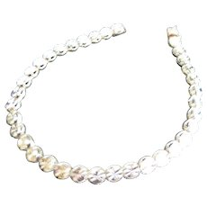 14K Gold Brilliant Cut Circles Bracelet