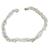 Vintage Chain Link Sparkle 14K Gold Bracelet