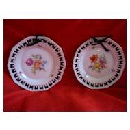 Pair of Bavarian Schumann Hanging Small Plates Decorative