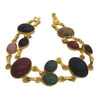 Egyptian Revival Scarab Bracelet 1950's