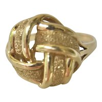 14K Yellow Gold Bow Tie Ring