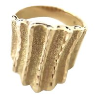 10K Yellow Gold Statement Band Ring