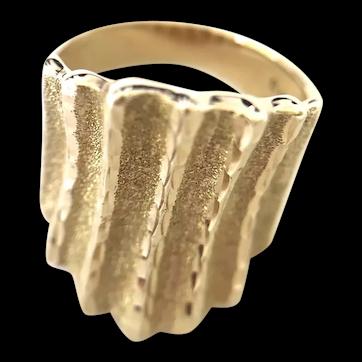 10K Yellow Gold Statement Band Ring