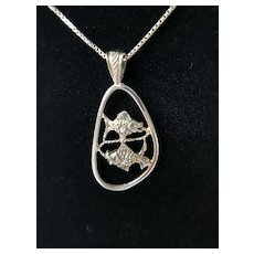 """Sterling Silver Pisces Fish Pendant with 20"""" Sterling Box Chain"""