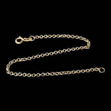 14K Yellow Gold Circle Link Chain Bracelet