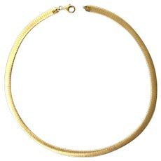 Vintage Omega 925 Gold Vermeil Sterling Silver Italian Reversible Necklace