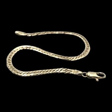 "14K Gold Herringbone 7"" Link Bracelet"