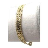 14K Gold Woven Link Bracelet