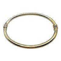 Bangle Bracelet 925 Sterling Gold Overlay