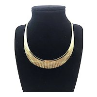 Gold Overlay Vermeil 925 Sterling Silver Fringe Collar Necklace 16""