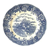 """""""English Village"""" Blue and White 10"""" Plate by Salem China Co."""