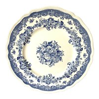 """Transferware """"Persian Tulip Plate"""" by Johnson Brothers of England"""