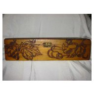 Vintage Victorian Pyrography Wooden Box
