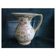 British Roshyl Floral Pitcher English Pottery