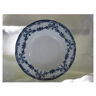 "Flow Blue China Soup Plate - Adderleys - Pattern  ""Alexis"""