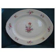 """American Dinnerware Homer Laughlin """"Priscilla"""" Pattern Platter"""