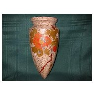 Vintage Pottery Wall Pocket Vase Made in Japan