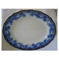 Flow Blue Platter   Doulton  Melrose C. 1800's