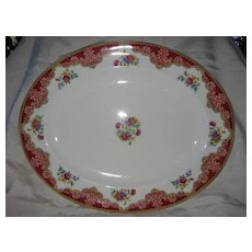 "Large Platter Red Floral  English Paragon  ""Honiton"" Pattern"