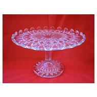 Pressed Glass Salver ( Cake Plate )