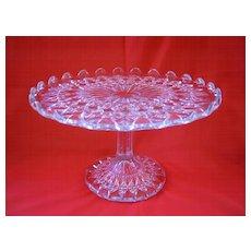 Pressed Glass Salver ( Cake Plate )