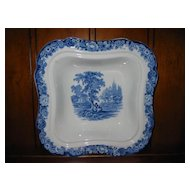 Staffordshire Transferware Square Bowl : Allerton Ltd