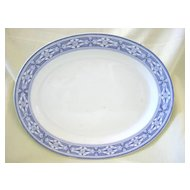 Large Purple Transferware Platter   Pattern  Tudor