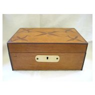 Antique Folk Art 1834 Wooden Box