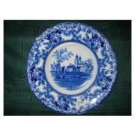 Antique Staffordshire Flow Blue Soup Plate Circa 1890: F. Winkle & Co.